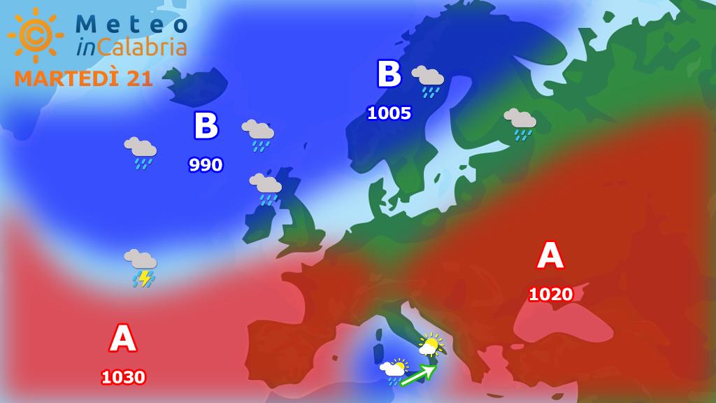 Previsioni del tempo per MARTEDì e MERCOLEDì: tempo discreto in attesa di...