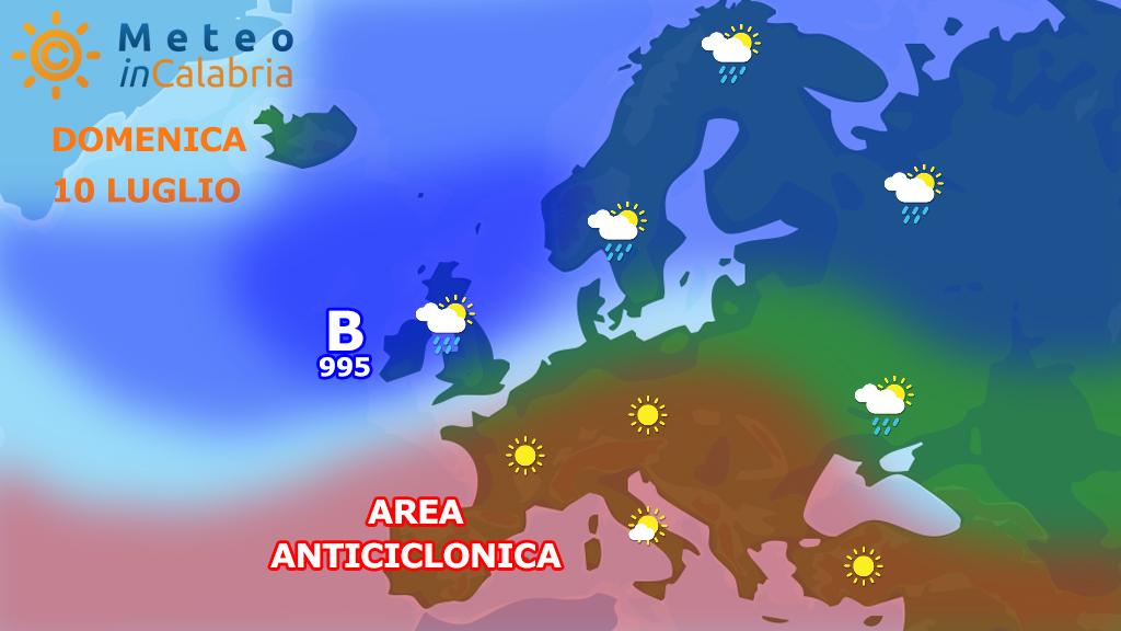 Il tempo di domenica 10 e lunedì 11 luglio  in Calabria...
