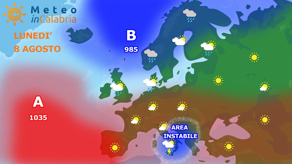 Previsioni per lunedì 8 e martedì 9: ancora residua instabilità!