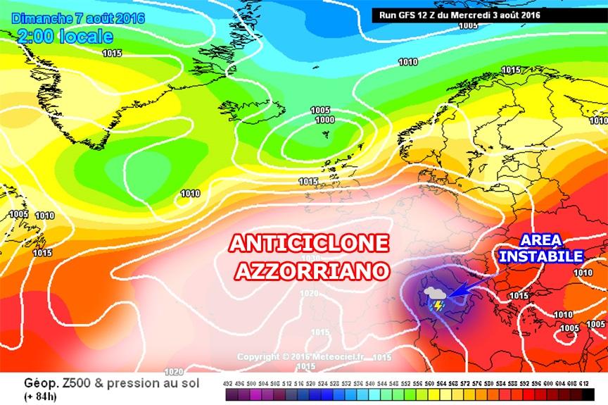 Peggioramento del weekend 6/7 agosto: regnano ancora alcune incertezze...