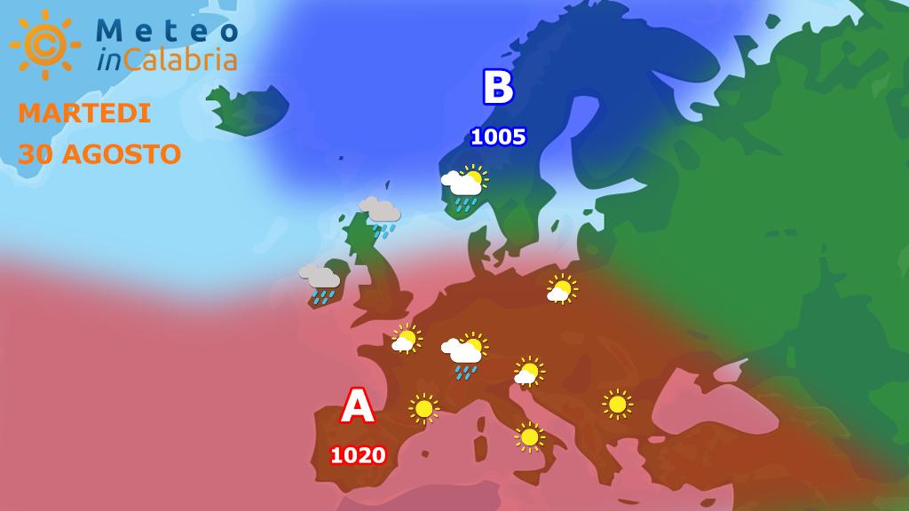 Dominio dell'Azzorriano: tempo bello e caldo