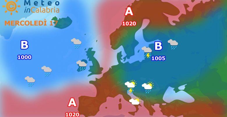 Previsioni per mercoledì 17 e giovedì 18:tempo stabile con qualche disturbo sui monti...