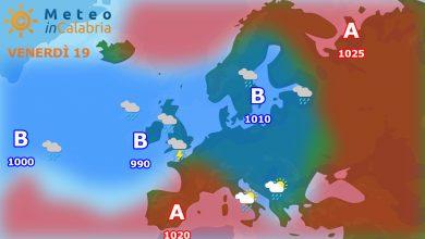 Previsioni per venerdì 19 e sabato 20:Tempo stabile con qualche nuvola in più sui monti