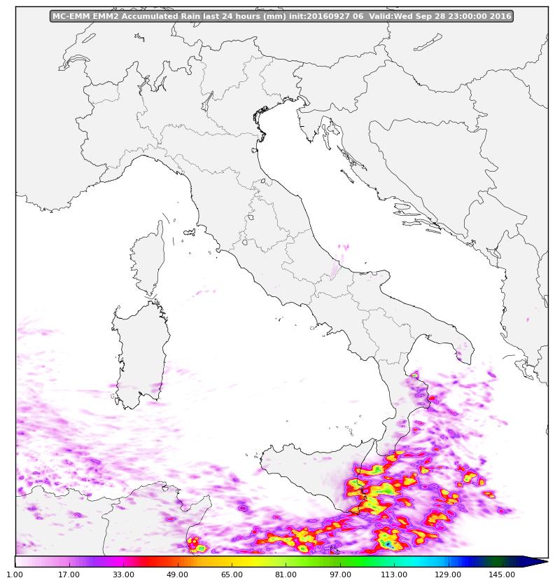 Mercoledì di pioggia sui versanti ionici!