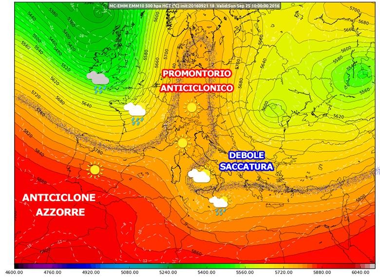 Linea di tendenza per il weekend 24/25 settembre: tempo stabile, ma non ovunque...