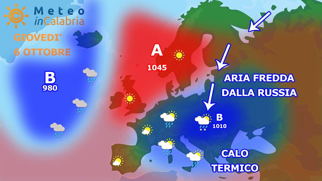 Precoce ONDATA di FREDDO in vista anche sulla Calabria? Facciamo chiarezza.