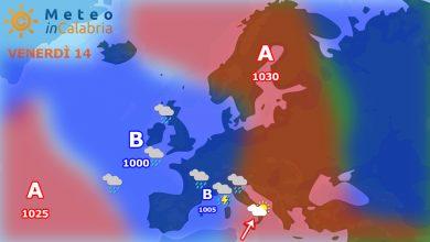 meteo di venerdì e sabato:Nubi sparse e temperature in aumento!