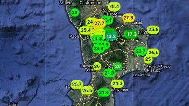 Gran caldo in Calabria: registrati valori massimi fino a +30°!!!