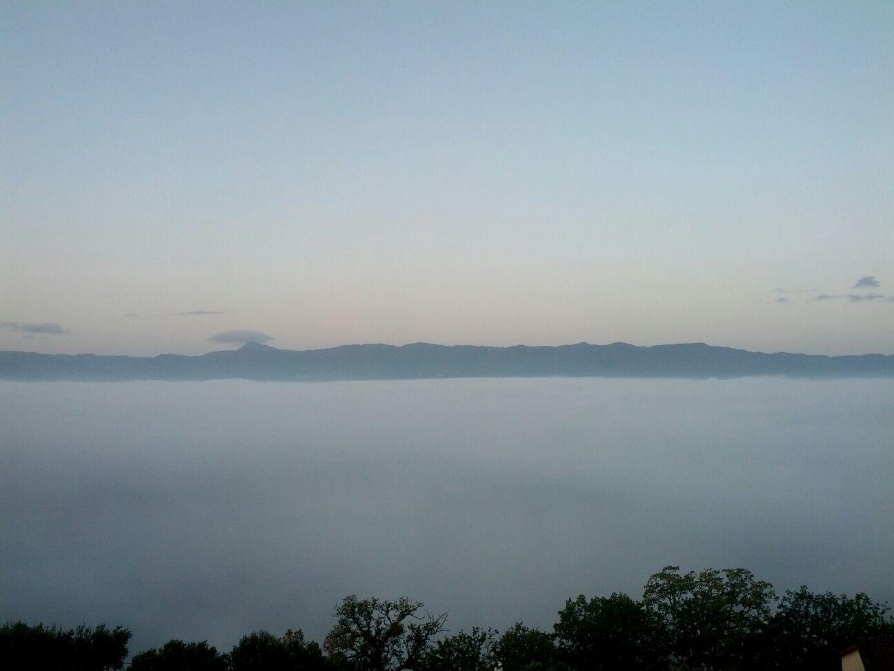 Nebbia in val padana? No nella valle del Crati!