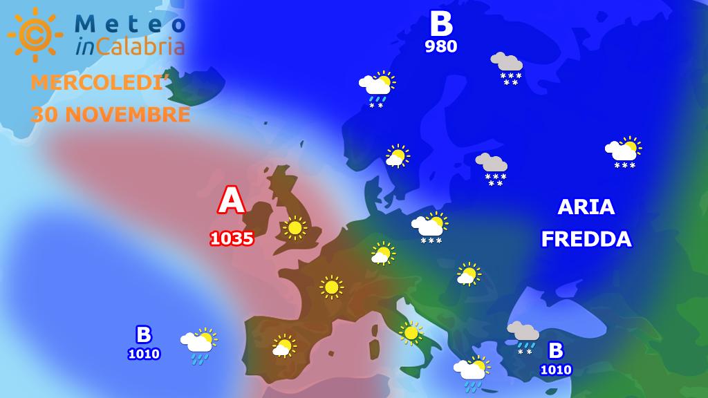 Meteo mercoledì e giovedì: freddo in graduale esaurimento
