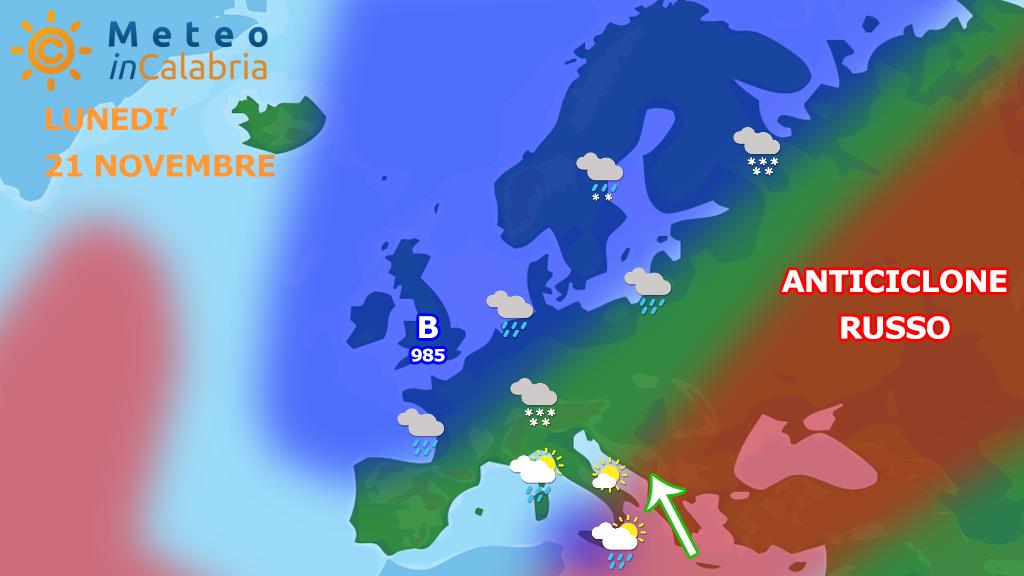 Ancora instabilità sulle aree ioniche per domenica e lunedì