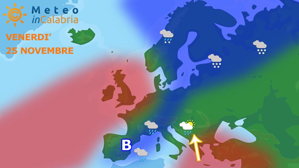 Meteo giovedì e venerdì: ancora Scirocco con locali piogge