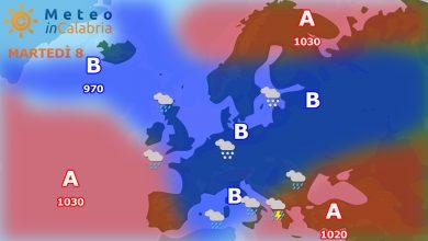 Martedì e mercoledì con piogge sparse e temperature in calo!