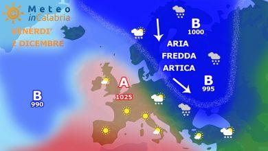 Venerdì e sabato: debole locale instabilità e temperature in media.