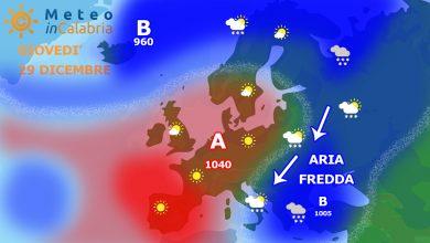 Meteo in dettaglio giovedì e venerdì: tanto freddo e locali nevicate