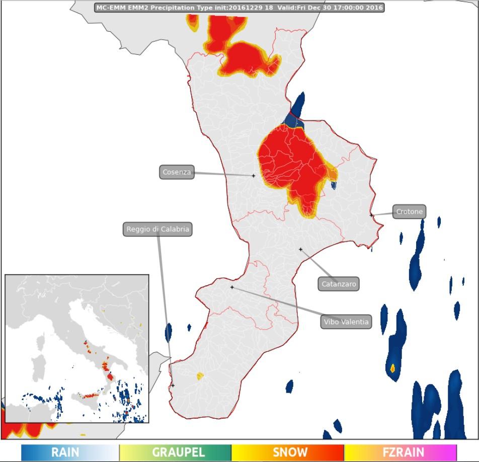 NEVE in Calabria per venerdì: AGGIORNAMENTI DELL'ULTIM'ORA