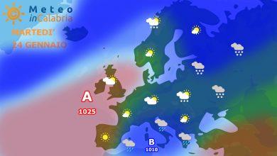 Il tempo di martedì e mercoledì: instabilità localizzata e calo termico.