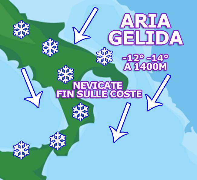 GRANDE GELO DELLA BEFANA: dove potrebbe nevicare?