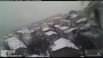 LIVE: L'aria fredda è entrata sul Cosentino settentrionale, a breve crollo termico ovunque