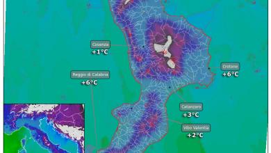 Tracollo delle temperature: gelo da venerdì. Ecco i valori previsti