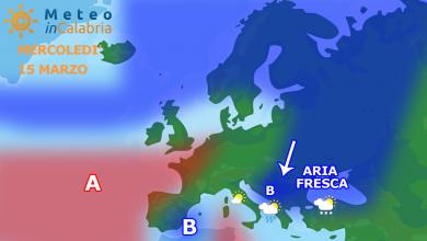 Meteo Calabria martedì e mercoledì: veloce peggioramento...