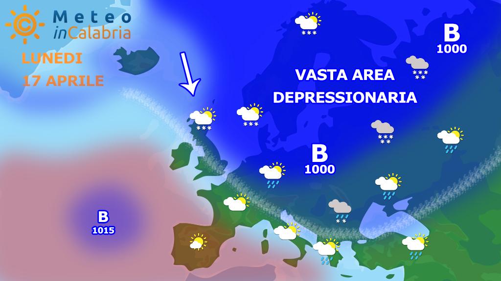 Meteo di Pasquetta e martedì: ancora episodi instabili localizzati...