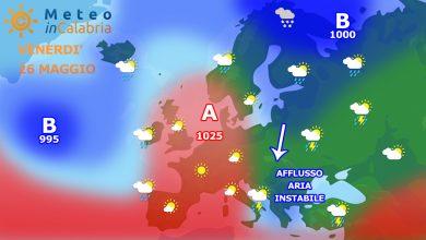 Meteo Calabria per venerdì e sabato. Ancora fenomeni instabili: vediamo dove