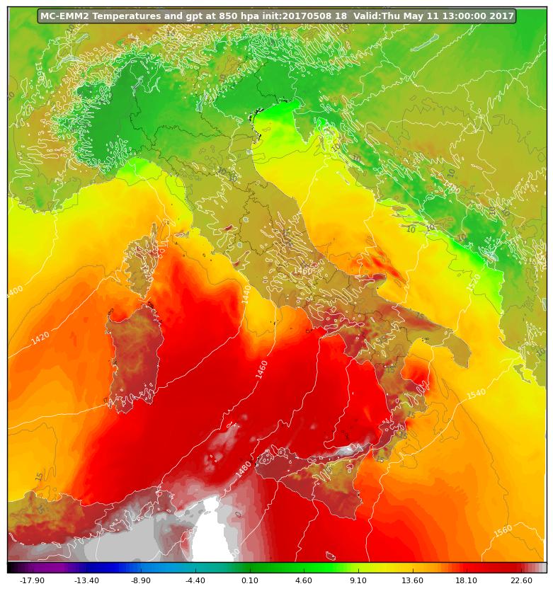 Aggiornamento sull'ondata africana: caldo sì, ma variabile da zona a zona...e non mancheranno deboli piogge!