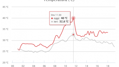 Riepilogo di una GIORNATA CALDISSIMA in Calabria: toccati i 40°!
