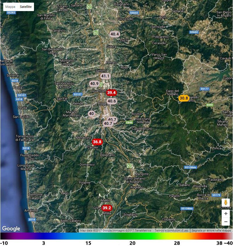 VENERDI' INFERNALE IN CALABRIA: SUPERATI I 40° SU VASTE AREE. ECCO GLI AGGIORNAMENTI IN TEMPO REALE!