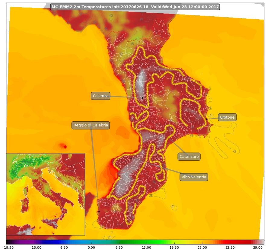 Le temperature previste domani in Calabria: possibili i primi 40° di stagione!