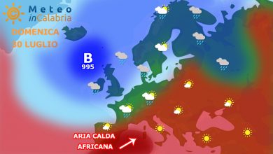 L'africano si avvicina: tempo bello e gradualmente più caldo...