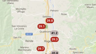 Valle del Crati infernale: superati i 41°!