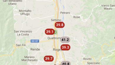 Valle del Crati infernale: superati i 41°!