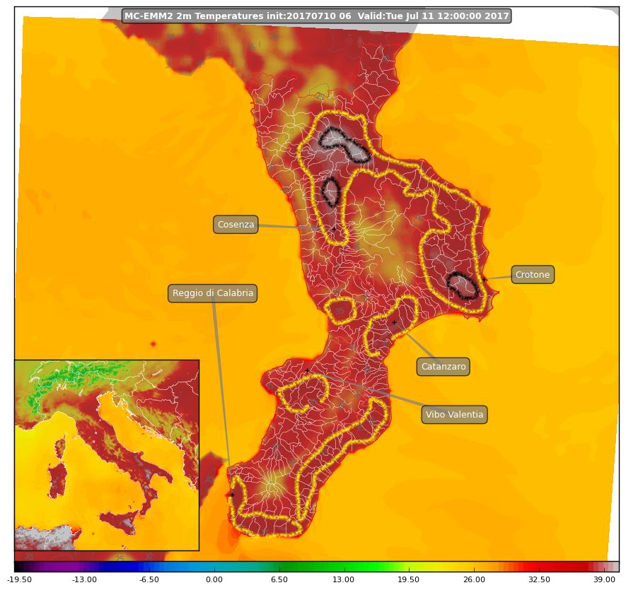 Focus sul caldo previsto per martedì 11 luglio: in alcune zone si supereranno i 40°!