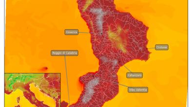 Focus sul picco del caldo previsto per mercoledì 12 luglio: ancora una volta localmente sopra i 40°!
