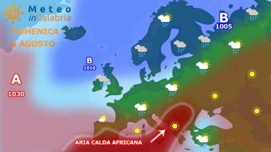 Meteo domenica e lunedì: continua la poderosa ondata africana...
