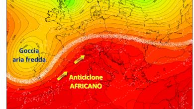 Toh...chi si rivede: l'anticiclone africano! Ma stavolta nessun record di caldo...