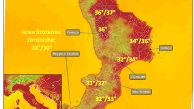 Domenica 27 agosto: temperature alte e venti localmente intensi