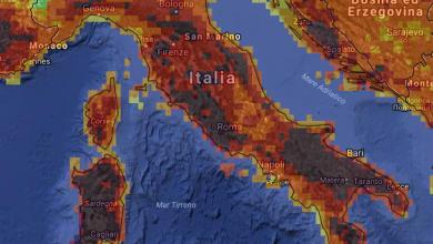 Mercoledì 2 agosto ancora altissimo pericolo d'incendi in alcune zone della Calabria...