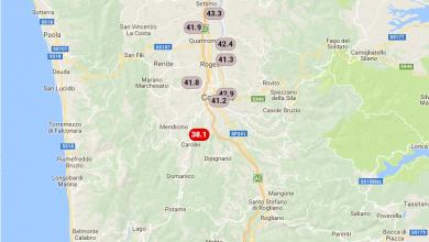 3 agosto 2017: sfiorati i 44° in Calabria!
