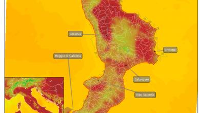 Focus temperature per sabato: oltre 35° in alcune zone della Calabria...