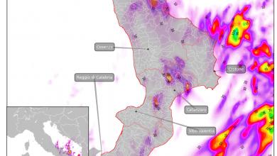 Venerdì 29 rinvigorimento dell'instabilità sulla Calabria: il focus