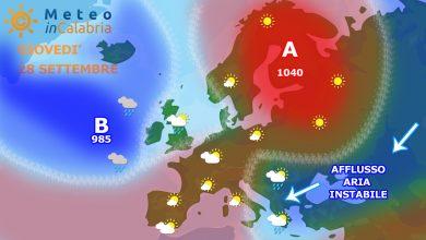 Giovedì e venerdì ancora locale instabilità sulla Calabria...