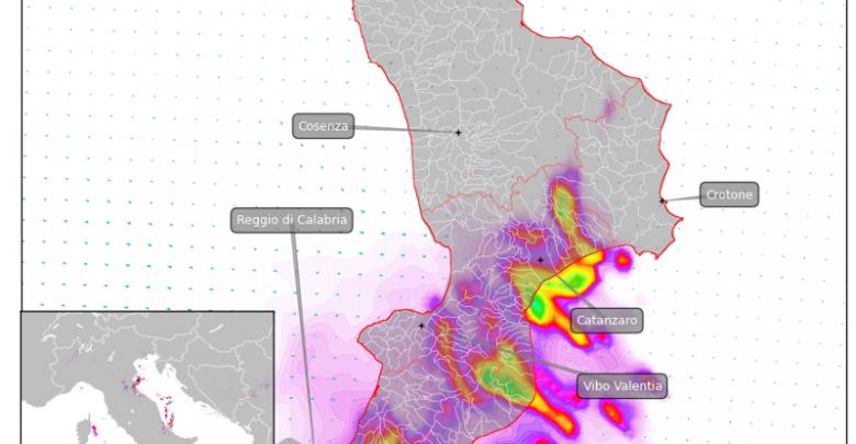 Aggiornamento FLASH: peggioramento imminente sulla Calabria meridionale
