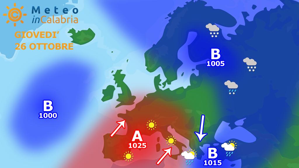 Meteo mercoledì e giovedì: miglioramento e aumento termico...