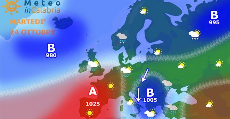 Meteo martedì e mercoledì: tramontana e temperature sottomedia!