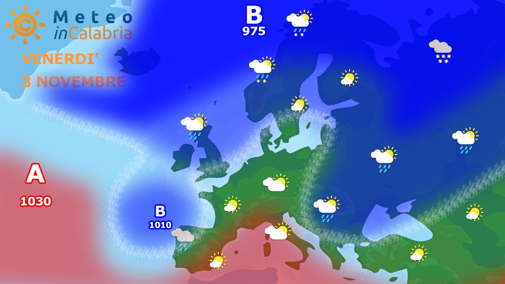 Meteo di venerdì e sabato: tempo buono sulla Calabria