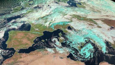 Vortice ciclonico sul Mediterraneo: le immagini e la tendenza.