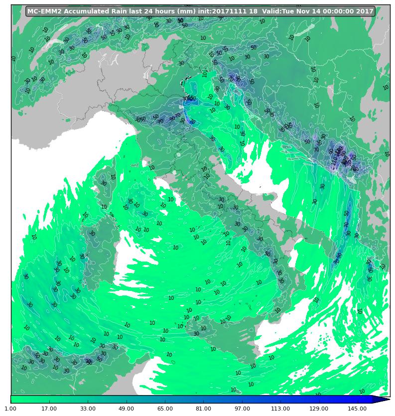 Il peggioramento di lunedì sulla Calabria: tutti i dettagli.